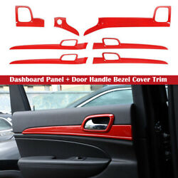 Interior Red Dashboard Panel Door Handle Cover Trim For Jeep Grand Cherokee 11+ $188.95