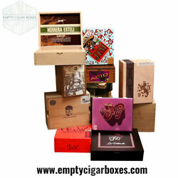 PREMIUM WOODEN EMPTY CIGAR BOXES FOR DECOR amp; CRAFTS CONTEMPORARY RARE LOT OF 10 $49.95