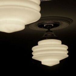 308 Vintage Ceiling Light Lamp Fixture Glass New Wired {5 tiered} 1 of 3 $185.00
