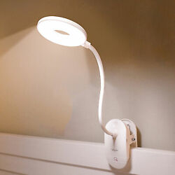 Reading Lamp Clip Light USB LED Bed Lamp Desk Table Lamp With Clip Dimmable $12.47