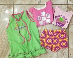 Lot of 4 3t girl clothes 1 embroidered dress 2 shirts amp;1 pair of shorts Circo $3.99