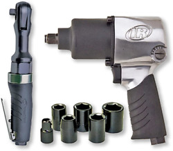 Ingersoll Air Impactool amp; Ratchet Kit 2317G Edge Series Black FREE SHIPING NEW $264.46