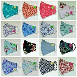 Handmade Cotton Face Mask Washable Reusable 3 Layers Filter Pocket Nose Wire $9.99