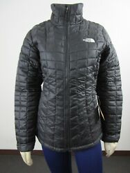 Womens TNF The North Face Thermoball FZ ECO Puffer Insulated Warm Jacket Black $137.70