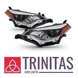 For 2014 2016 Toyota Corolla Headlights Headlamps Aftermarket LeftRight $196.64