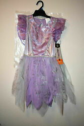 NEW GIRLS PURPLE SHIMMER GARDEN FAIRY COSTUME WITH WINGS Free Shipping $15.99