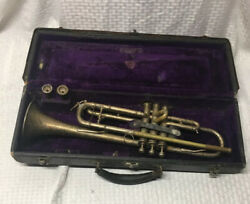 Vintage 1928 Martin Handcraft Dansant Trumpet Original Case plus 2  Mouthpieces $285.00