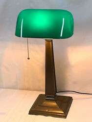 EMERALITE BANKERS LAMP McFADDEN amp; COMPANY CASED GREEN SHADE VERY NICE LAMP $395.00