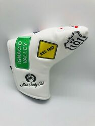 Marin Country Club White Leather Limited Ed. Magnet Golf Blade Putter Headcover $9.99