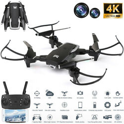 Mini Quadcopter Drone HD 4K Dual Camera Selfie WiFi FPV Foldable RC Aircraft USA $49.99