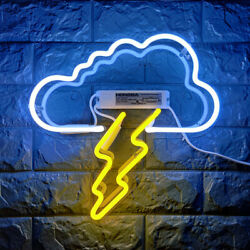 Cloud Lightning Neon Sign 14quot; Bedroom Artwork Wall Decor Real Glass From US $49.99