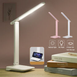 Dimmable LED Desk Light Table Bedside Reading Lamp Touch Rechargeable USB Port $18.12