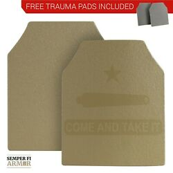 Body Armor AR500 Plates Two 10X12s in Federal Standard Tan Side Plate Options $119.95
