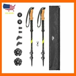 Cascade Mountain Tech Trekking Poles Carbon Fiber Strong Adjustable Hiking $60.32