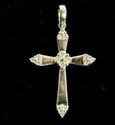 Diamond Cross in 14k White Gold .30 Carats $104.39