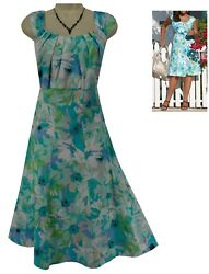 14W 1X SEXY Womens WATERCOLOR FLORAL PRINT DRESS Summer Wedding Party PLUS SIZE $49.99