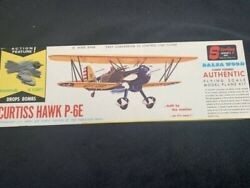 RARE Sterling Curtiss Hawk P 6E Balsa Kit Scale Model Kit 16quot; Wing Drops Bombs $75.00