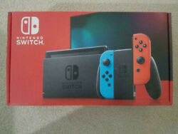 Nintendo Switch 32GB Neon Red Blue Console v2 New In Hand Fast Shipping $365.00