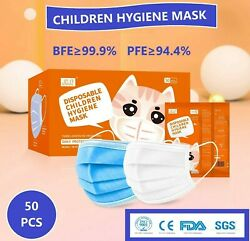 50 PCS FACE MASK for Kids Children and Teens Printed Pattern Box of 50 PCS $14.99