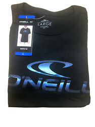 O#x27;Neill Mens Black Size LARGE Theme Logo Graphic Printed Crewneck Shirt Tee