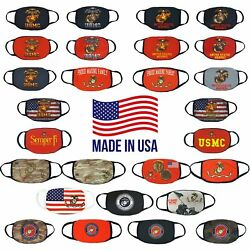 US Marine Adult Size Face Mask Reusable Washable Handmade in USA $11.00