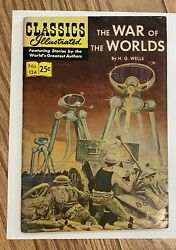 The WAR of the WORLDS by HG Wells Classics Illustrated #124 vintage excellent $100.00