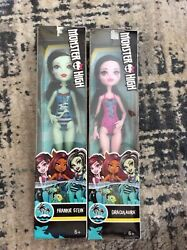 Monster High Swimsuit Edition: DRACULAURA Pink FRANKIE STEIN Blue 11quot; Dolls $3.00