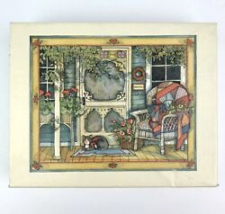 Vintage 1990 Lang Boxed Note Cards Country Welcome by Susan Winget 10 Count USA $24.99
