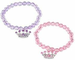 12 Princess Beaded Stretch Bracelet Girls Pink Purple Party Favors Kids Jewelry $4.49