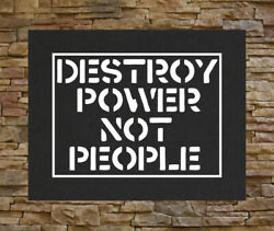 Destroy Power Not People Back Patch Anarchy Human Liberation Rights Class War $16.45