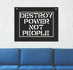 Destroy Power Not People Wall Tapestry Anarchy Human Liberation Rights Politic $29.95