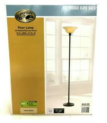 Hampton Bay 71 Inch Floor Lamp Light Oil Rubbed Bronze Amber Shade $31.99