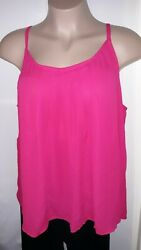 *NEW* Womens Plus  TORRID PINK CHIFFON CAMI SZ: 3 NWT Gorgeous color $19.89