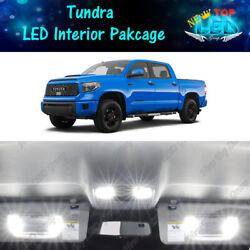 17x White LED Lights Interior Package Kit for 2007 2020 2021 Toyota Tundra