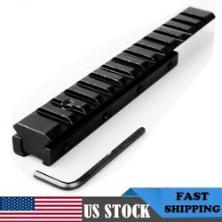 Dovetail Extension Weaver Picatinny Adapter Riser Rail 11mm to 20mm Mount Base $11.69