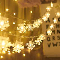 Christmas Lights Outdoor Indoor Garland Snow Fairy Lights Party Decoration