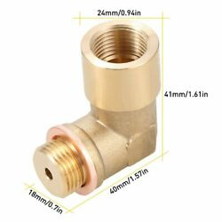 2PCS 90 Degree Angled Bung Extension M18 x1.5 O2 Oxygen Sensor Extender Spacer $15.99