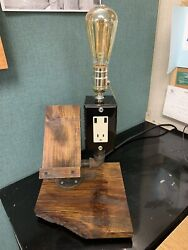 Bedroom Lamp Black Pipe Phone Holder And Charger. $99.00