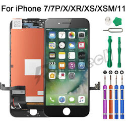 iPhone 7 7 Plus LCD Touch Display Screen Digitizer Replacement OEM9 In 1 Tools $28.95