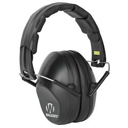 Walkers Pro Low Profile Folding Ear Muffs Black Passive Hearing Protection $11.98