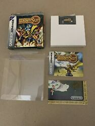 Golden Sun for Game Boy Advanced Box Cartridge Manual amp; Poster $124.88