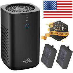 2020 Best Silent Air Purifier True HEPA Filter Cleaner for Home Smoke Allergies $65.99