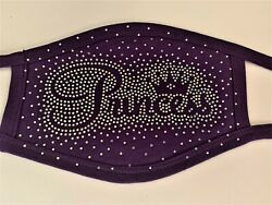Princess Face Mask Purple Girl mask Purple Princess Mask Girl Rhinestone Mask $10.00