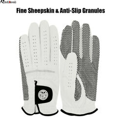 Men#x27;s Cabretta Leather Golf Gloves Left Right Hand Anti Skid All Weather 6 Sizes $9.95