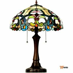 Table Lamps Victorian 2 Light Lamp With 16quot; Stained Shade Rsenio $213.99