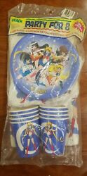 NEW SEALED Vintage SAILOR MOON Party For 8 Supply Kit $74.99