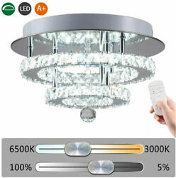 Modern Crystal 36W LED Ceiling Lights Bedroom Lamp Chandeliers Pendant Fixtures $45.98