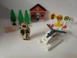 Thomas The Train Harold The Helicopter The Conductor Trees Station Signs $16.99