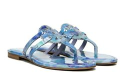 Circus by Sam Edelman Canyon Womens Flat Sandals Purple Mist Patent Blue Sz 810 $39.99