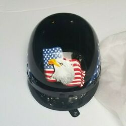 SMALL HD Powersports Safety Products Motorcycle Half Helmet HD308 American Eagle $69.95